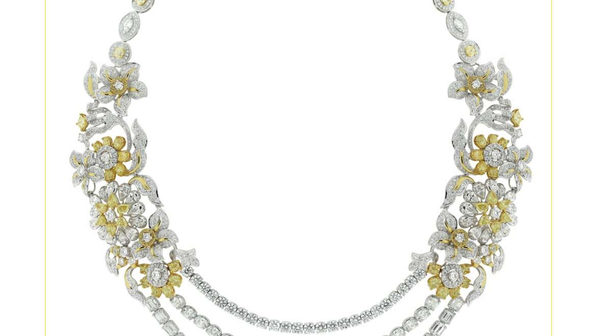 Yellow Diamond Spring Necklace